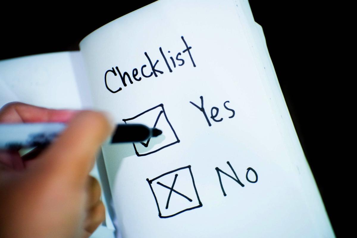 Banking business checklist 416322
